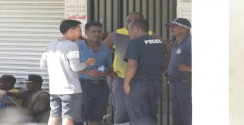 Police collect evidence on looting of Chinese stores near the Honiara International Airport in April 2019, Source: Dr Anouk Ride