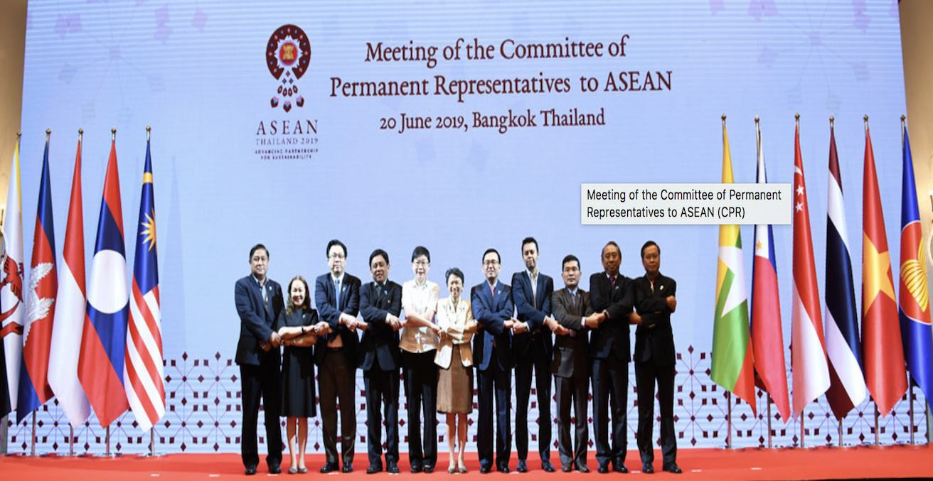 Meeting of the Committee of Permanent Representatives to ASEAN on 20 June 2019, Source: ASEAN, https://bit.ly/2n5p3re