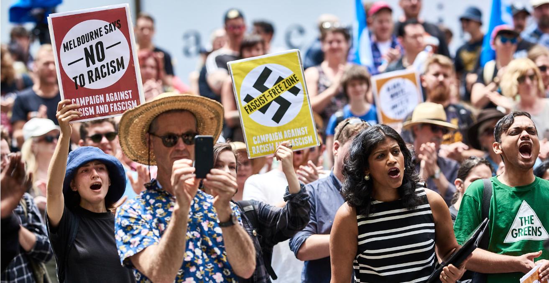 Anti Nazi Rally Melbourne 12-1-19 Flickr: julian meehan