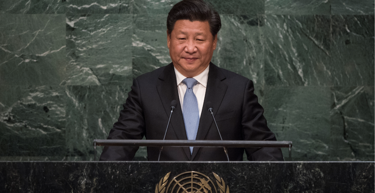 Xi Jinping at the United Nations. Source: Flickr United Nations