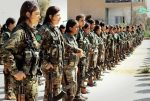 Kurdish YPG Fighters Stand in Line. Photo by Uzi Doeslt, Flickr.
