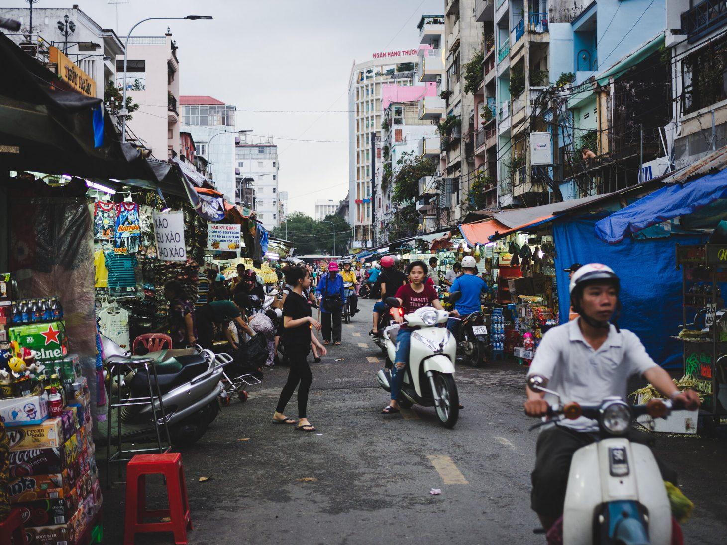 Street in Ho Chi Minh City. Photo by Adam Hinett, Flickr.