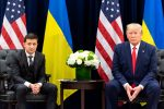 President Donald J. Trump participates in a bilateral meeting with Ukraine President Volodymyr Zalensky Wednesday, Sept. 25, 2019, at the InterContinental New York Barclay in New York City. Photo by Shealah Craighead, the White House