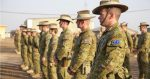 Australian soldiers, deployed in support of Combined Joint Task Force – Operation Inherent Resolve, attend a medals parade at Camp Taji, Iraq, Nov. 15, 2017. Photo by Rachel Diehm, US Army Photo. Source: