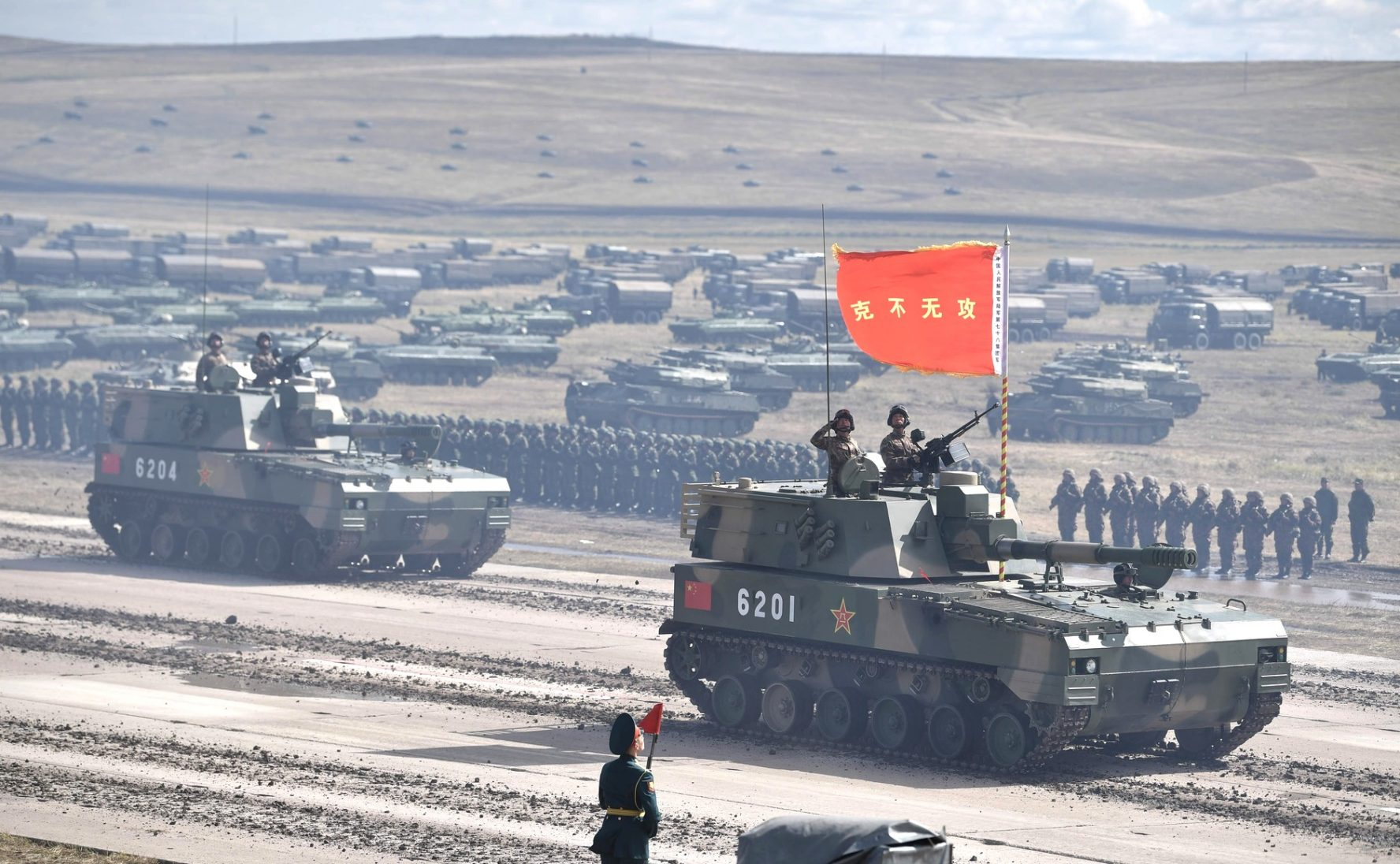 Chinese tanks. Photo by The President of Russia. Source: https://bit.ly/2rVpqGH