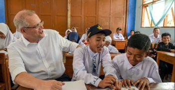 Scott Morrison in Jakarta. Photo by Timothy Tobing, DFAT. Source: https://bit.ly/2sD0tjR