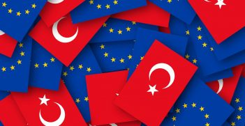 Turkey and EU Flags. Source: https://bit.ly/368NcxB