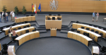 Plenary hall of the Thuringian state parliament in Erfurt. Source: Michael Sander https://bit.ly/2HB5Wfd