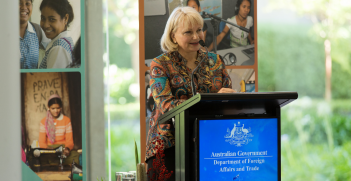 Ambassador for Women and Girls Sharman Stone's inaugural address to DFAT staff. Source: Department of Foreign Affairs and Trade https://bit.ly/2wAxLlF
