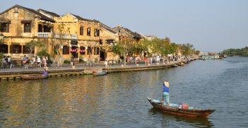 Riverside view of Hoi An, Vietnam.  Usually the waterfront is full of tourists exploring the UNESCO-listed town. Source: Paul Mannix https://bit.ly/2VlkUwg