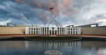 Parliament House, Canberra, Australia. Source:  JJ Harrison https://bit.ly/2zmoXkx