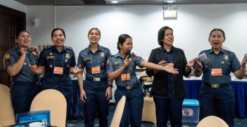 Philippine police officers participate in the UN Women/UNODC Workshop on Women in Law Enforcement  in Davao, the Philippines. Source: UN Women/Ploy Phutpheng  https://bit.ly/3e3lTcU