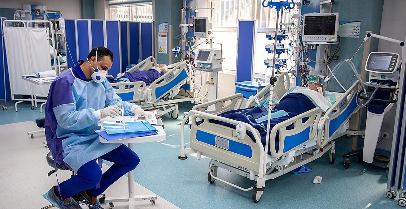 Coronavirus patients at the Imam Khomeini Hospital in Tehran, Iran. Source: Mohsen Atayi https://bit.ly/2KxOEkJ