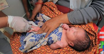 An infant receives an injection at a hospital in Preah Vihear province, Cambodia. Source: Chhor Sokunthea/World Bank https://bit.ly/3gBRZOu