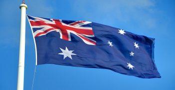 Australian flag seen flying in Toowoomba, Queensland. Source: Lachlan Fearnley https://bit.ly/3flcdv0