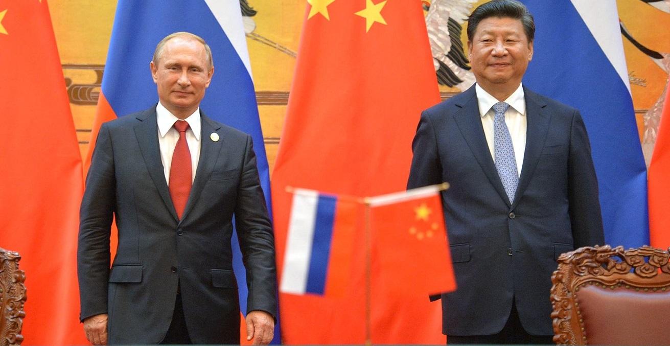 Russian President Vladimir Putin and Chinese President Xi Jinping. Source: Kremlin https://bit.ly/2YRMLpM