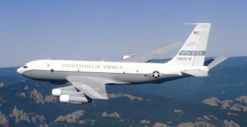 OC-135B Open Skies aircraft in flight.  This aircraft is used primarily for unarmed observation to support Open Skies Treaty. Source: US Air Force https://bit.ly/2NlcL7o