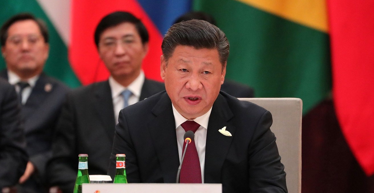 President of the People's Republic of China Xi Jinping at an informal meeting of the heads of state and government of the BRICS member countries. Source: Kremlin https://bit.ly/3dcKURx