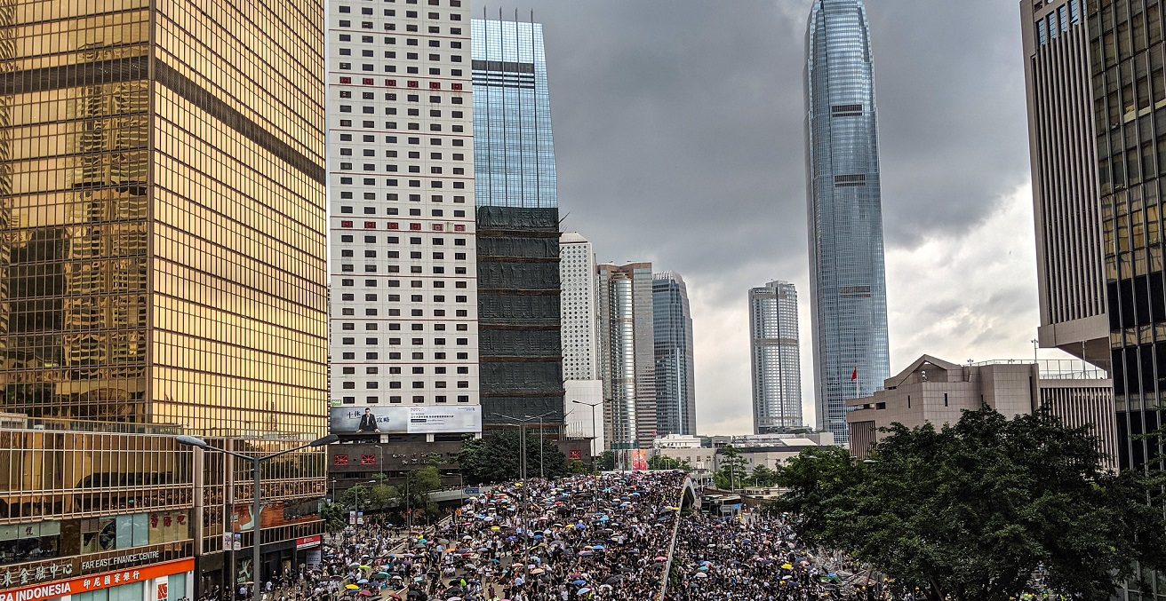 An anti-extradition bill protest in Hong Kong Source: Incendo https://bit.ly/335fzic