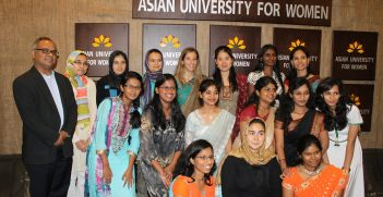 Students at the Asian University for Women. Source: Auwsf1 https://bit.ly/2Df9fd9