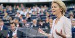 Ursula von der Leyen European Union Commission President at a debate. Source: Flickr https://bit.ly/3fYM5Gq.