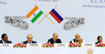 Prime Minister Modi and President Putin at the World Diamond Conference in New Delhi in 2014 Source: https://bit.ly/34VYqZb
