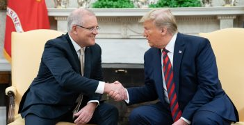 President Donald J. Trump participates in a bilateral meeting with Australian Prime Minister Scott Morrison Friday, Sept. 20, 2019, to the Oval Office of the White House Source: Official White House Photo by Shealah Craighead, https://bit.ly/2RN2GCr