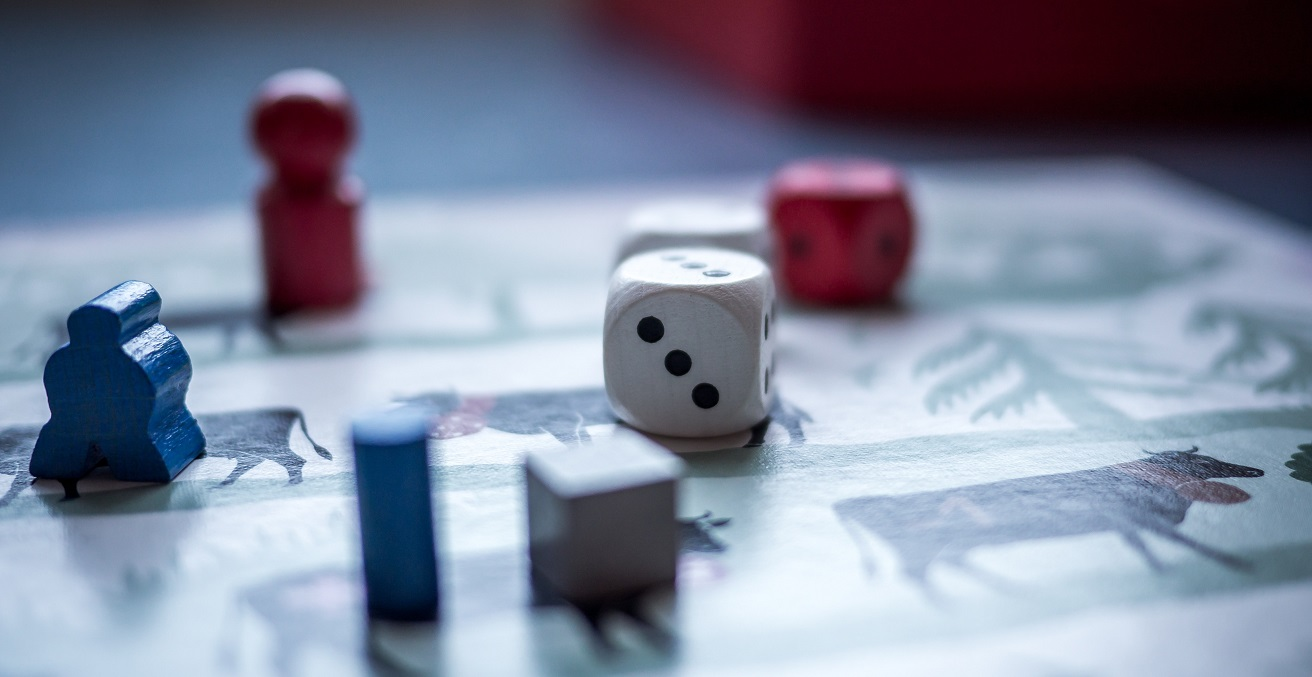 Dice on a game board Source: https://bit.ly/2EpYO7r