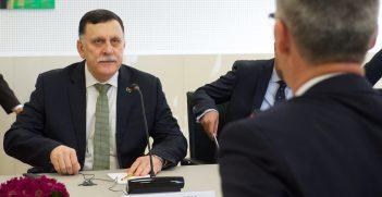 The Prime Minister of Libya, Fayez al-Sarraj visits NATO and meets with NATO Secretary General Jens Stoltenberg Source: NATO North Atlantic Treaty Organization, https://bit.ly/34CtQDc
