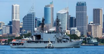 A Japanese naval vessel in Sydney Harbour. Source: Davesayit/Shutterstock.