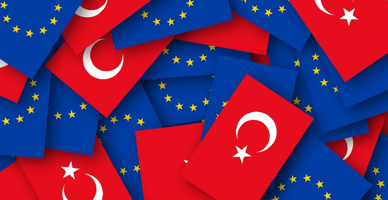 Turkey and European Union flags Source: https://bit.ly/3jVhZ8y