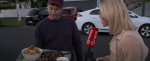 Prime Minister Jacinda Ardern's partner Clarke Gayford offers fried fish and venison bites to journalists waiting outside Ardern's suburban Auckland home. TVNZ.