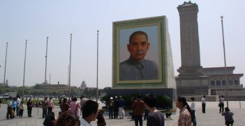 Portrait of Sun Yat-sen hung in Tiananmen Square. Source: Kevin Dooley https://bit.ly/3nR9i0A