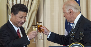 Joe Biden and Xi Jinping. Source: Paul J. Richards/AFP accessed via Axios https://bit.ly/2V2tLDd