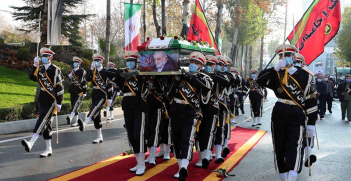 Fakhrizadeh's funeral at the headquarters of the Ministry of Defense. Source: FARS https://bit.ly/37Ql2dj