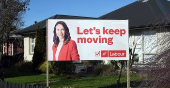 A picture of the Vote Jacinda campaign in Christchurch, New Zealand. Source: Stephen Trinder https://bit.ly/33QeHNN