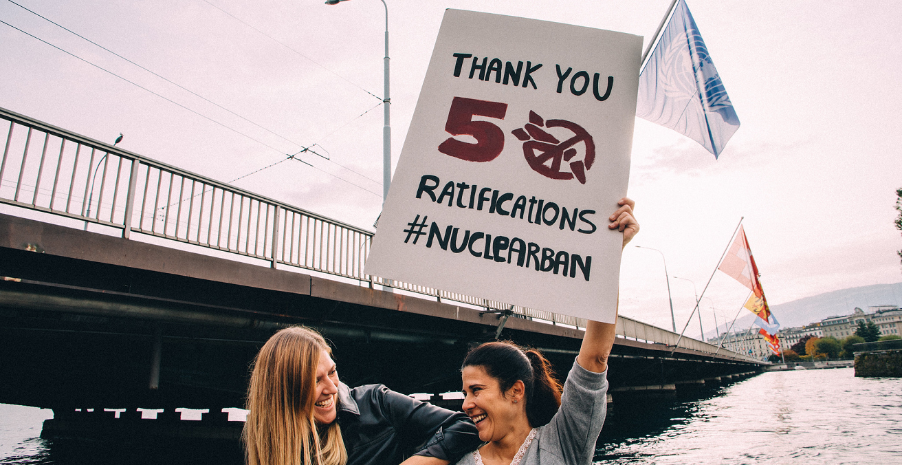 TPNW reaches 50 ratifications. Source: International Campaign to Abolish Nuclear Weapons photostream https://bit.ly/3sIjsUp
