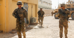 U.S. Army Soldiers from 1st Battalion, 12th Infantry Regiment, 2nd Infantry Brigade Combat Team, 4th Infantry Division, walk into a simulated village. Source: U.S. Department of Defense Current Photos https://bit.ly/3j3nXVa