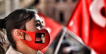 Myanmar protest. Source: Cgil Nazionale https://bit.ly/37f2aVW