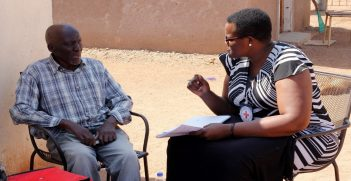 Data Collection With Families Of Missing Migrnats In Gwanda. Photo supplied by the ICRC.