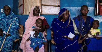Women in Wau, South Sudan waiting in line at a health center. Source: Photo supplied by the ICRC.