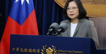 President Tsai Ing-wen delivered an address on the afternoon of June 13 regarding the decision by the Republic of Panama to end diplomatic relations with the Republic of China (Taiwan). Source: Presidential Office Building, Taiwan https://bit.ly/38igm19