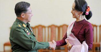 Senior General Min Aung Hlaing and Aung San Suu Kyi. Source: sadi richards https://bit.ly/30PIS5X