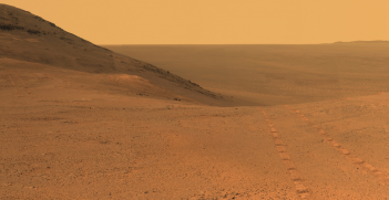 From Mars Rover: Panorama Above 'Perseverance Valley'. Source: NASA's Marshall Space Flight Center https://bit.ly/3uSBW60