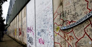 Graffiti on the Belfast Peace wall. Source: Philip Ray https://bit.ly/3a7t3wy