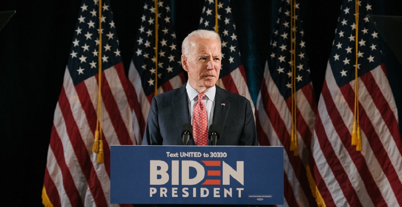 Joe Biden 2020 Press conference. Source: Photo News https://bit.ly/3aamWHI