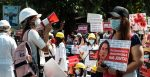 Protests in Myanmar 2021, Photographer MgHla (aka) Htin Linn Aye, sourced from Wikimedia Commons, https://bit.ly/3x9r4BB
