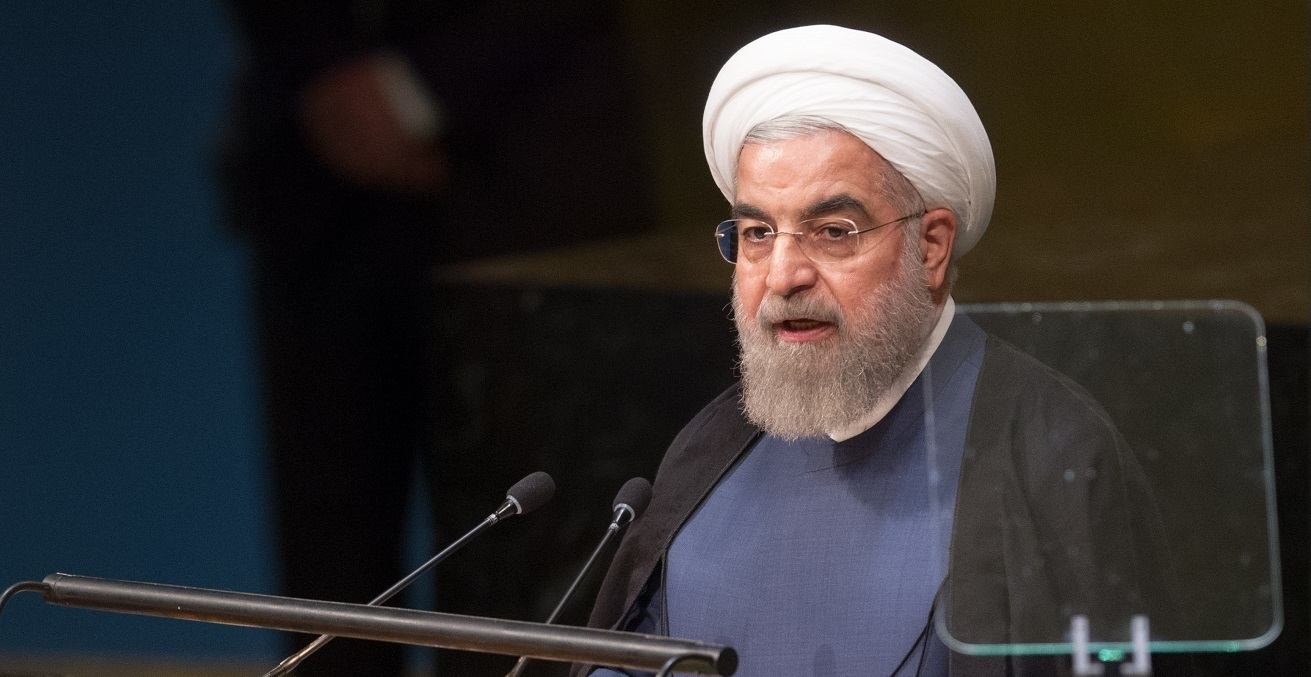Hassan Rouhani, President of the Islamic Republic of Iran, addresses the general debate of the General Assembly, United Nations. Source: UN Photo/Loey Felipe https://bit.ly/3mP9Ftt