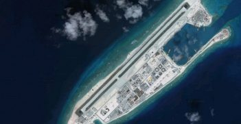 The Chinese built Spratly Islands. Sourced from Loco Steve, https://bit.ly/3wSm8AV