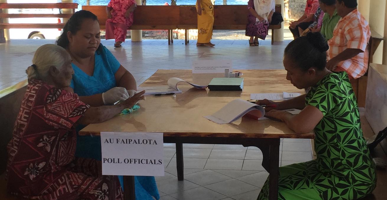 Polling Alataua Sisifo 2016, photographed by Kerryn Baker